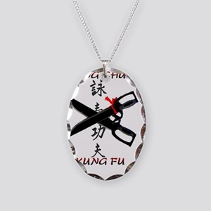 wc kung fu Necklace Oval Charm