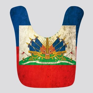 Grunge Haiti Flag Bib