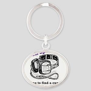 Listen Up, Cure Epilepsy Oval Keychain