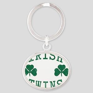 irish-twins Oval Keychain