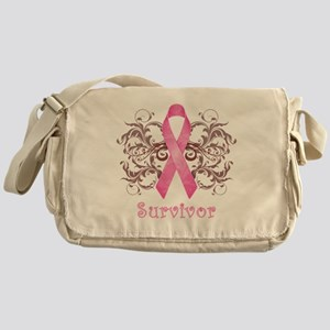 PinkCancerSurvivorDark Messenger Bag