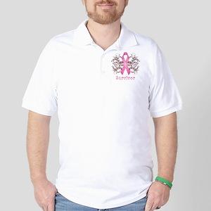 PinkCancerSurvivorDark Golf Shirt