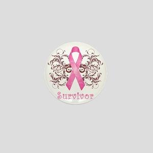PinkCancerSurvivorDark Mini Button