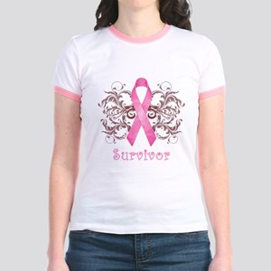 PinkCancerSurvivorDark Jr. Ringer T-Shirt