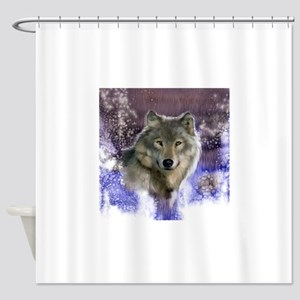 wolf 10x10 Shower Curtain