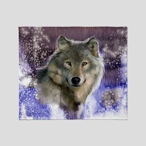 wolf 10x10 Throw Blanket