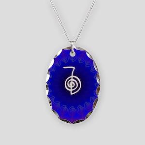 Cho-Ku-Rei-Reiki-Color-field Necklace Oval Charm