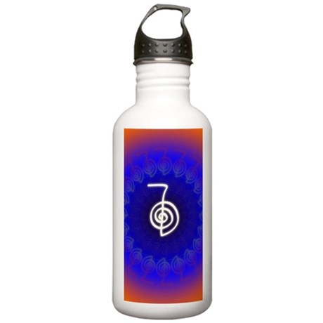Cho-Ku-Rei-Reiki-Color Stainless Water Bottle 1.0L & Angelic Power Water Bottles - CafePress