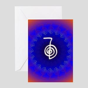 Cho-Ku-Rei-Reiki-Color-field Greeting Card