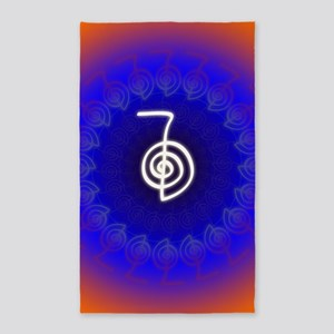 Cho-Ku-Rei-Reiki-Color-field 3'x5' Area Rug