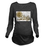 Palm Tree Italy Long Sleeve Maternity T-Shirt