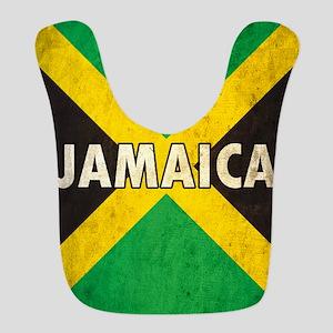 Jamaica Grunge Flag Bib