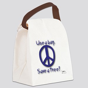 Save a Tree Peace Symbol Canvas Lunch Bag