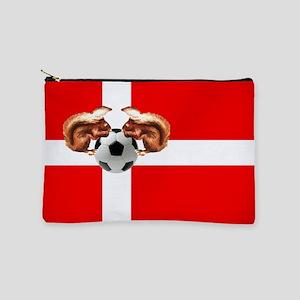 Danish Football Flag Makeup Pouch