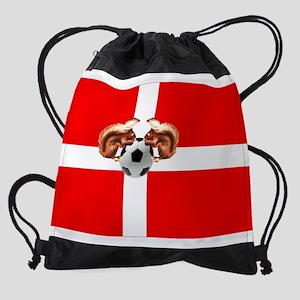 Danish Football Flag Drawstring Bag