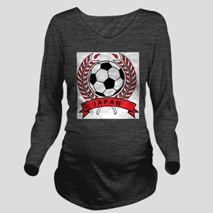 Soccer Japan Long Sleeve Maternity T-Shirt