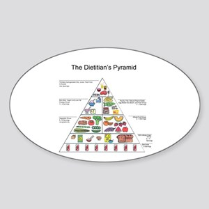Dietitian's Pyramid Oval Sticker