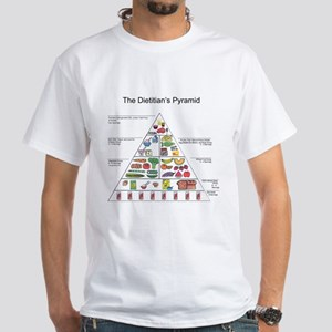 Dietitian's Pyramid White T-Shirt