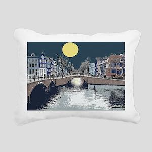 DutchBridge1abcx Rectangular Canvas Pillow
