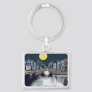 DutchBridge1abcx Landscape Keychain