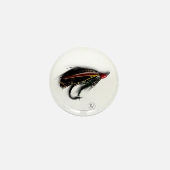 salmon_fly_01 Mini Button