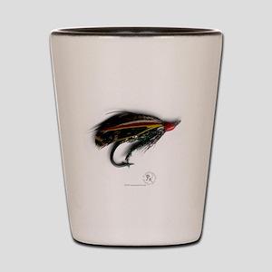 salmon_fly_01 Shot Glass