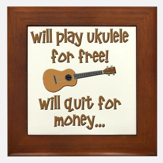 funny ukulele uke designs Framed Tile