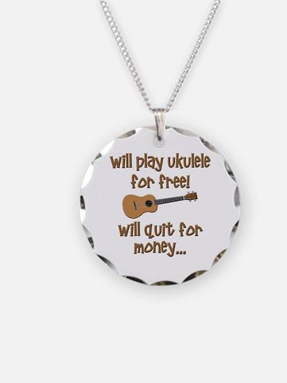 funny ukulele uke designs Necklace Circle Charm