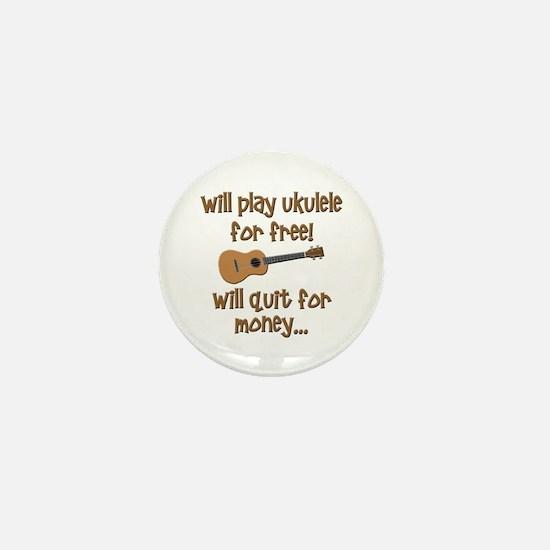 funny ukulele uke designs Mini Button