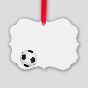 Soccer Goals White Picture Ornament