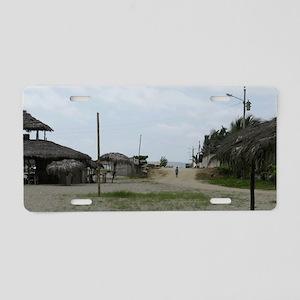 BeachHut_14x6 Aluminum License Plate