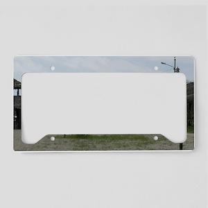 BeachHut_14x6 License Plate Holder