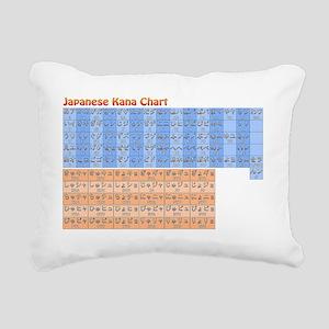 Color Japanese Kana Char Rectangular Canvas Pillow