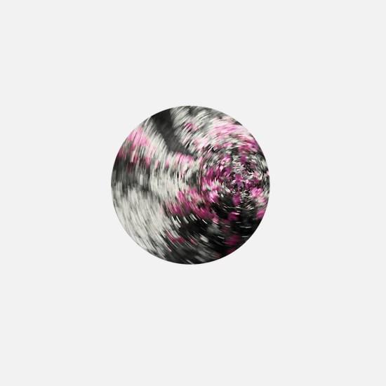 Spinning Scene with Pink Azaleas Mini Button