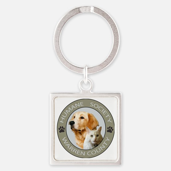 WC HUMANE CIRCLE COLOR copy Square Keychain