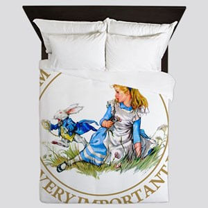 Alice I'm late_MARAJA_GOLD copy Queen Duvet