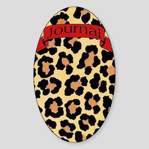 leopard journal Sticker (Oval)