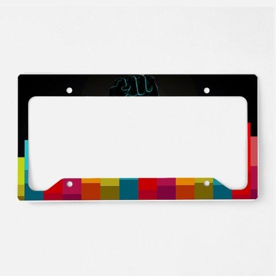 equalfistprint License Plate Holder