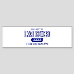 Hard Knocks University Bumper Sticker