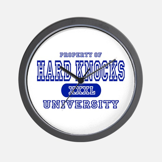 Hard Knocks University Wall Clock