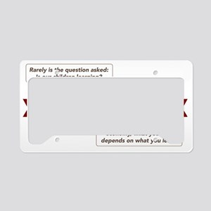 bush-v-clinton-education License Plate Holder