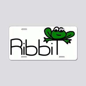 RibbiT tshirt Aluminum License Plate