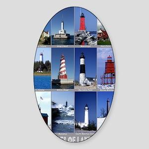 Lake Mich 16x20 Sticker (Oval)