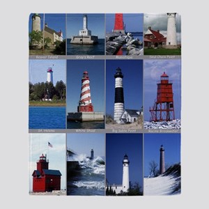 Lake Mich 16x20 Throw Blanket
