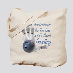 Bowling Therapy Dark Tote Bag