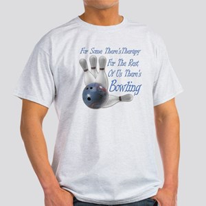 Bowling Therapy Dark Light T-Shirt