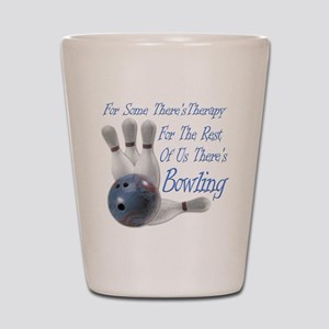 Bowling Therapy Dark Shot Glass