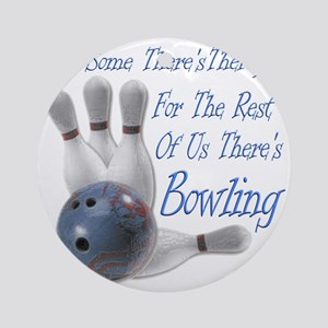 Bowling Therapy Dark Round Ornament
