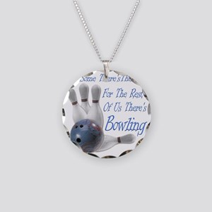 Bowling Therapy Dark Necklace Circle Charm