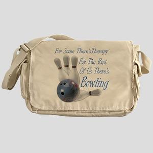 Bowling Therapy Dark Messenger Bag